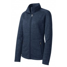 Port Authority® Ladies Digi Stripe Fleece Jacket Navy
