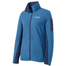 Port Authority® Ladies Summit Fleece Full-Zip Jacket in Blue