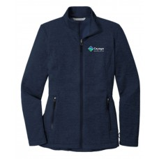 Port Authority® Ladies Collective Striated Fleece Jacket blue with embroidery