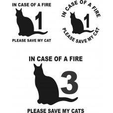 Cat Fire Decal