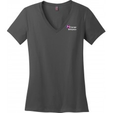 District ® Women's Perfect Weight ® V-Neck Tee Charcoal *Sale Item*