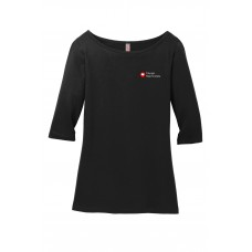 District Made® Ladies Perfect Weight® 3/4-Sleeve Tee CHI