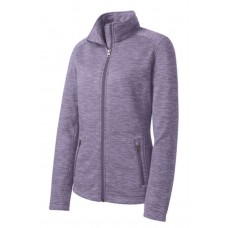 Port Authority® Digi Stripe Fleece Jacket BLANK ITEM Purple