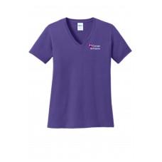 Port & Company® Ladies Core Cotton V-Neck Tee