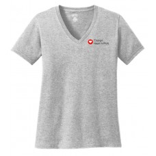 Port & Company® Ladies Core Cotton V-Neck Tee CHI