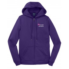 Sport-Tek® Ladies Sport-Wick® Fleece Full-Zip Hooded Jacket