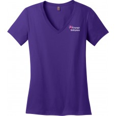District Made® - Ladies Perfect Weight® V-Neck Tee